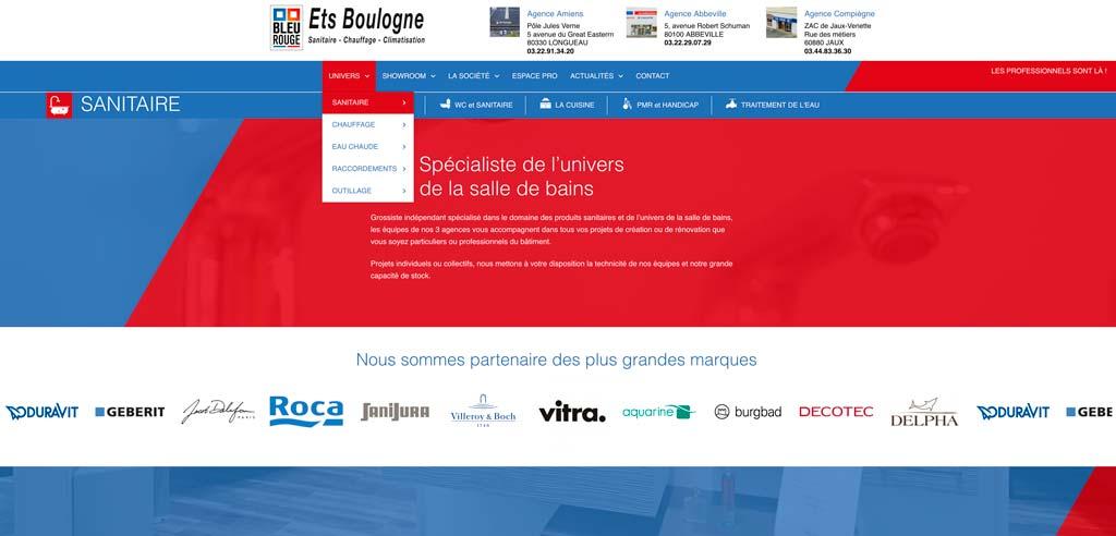 le site internet des établissements Boulogne