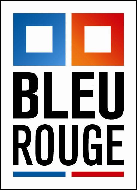 logo bleu rouge
